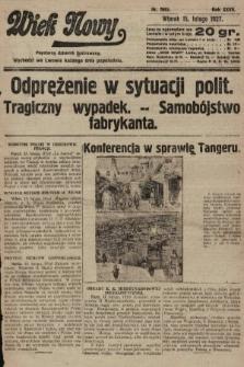 Wiek Nowy : popularny dziennik ilustrowany. 1927, nr7693