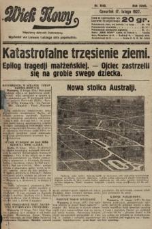 Wiek Nowy : popularny dziennik ilustrowany. 1927, nr7695