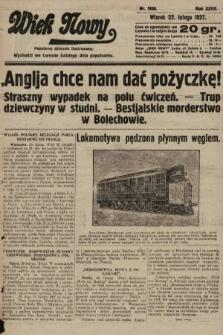 Wiek Nowy : popularny dziennik ilustrowany. 1927, nr7699