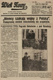 Wiek Nowy : popularny dziennik ilustrowany. 1927, nr7700