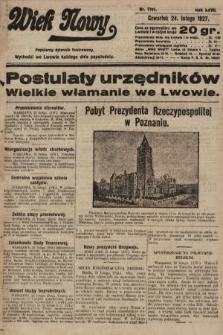 Wiek Nowy : popularny dziennik ilustrowany. 1927, nr7701