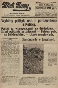 Wiek Nowy : popularny dziennik ilustrowany. 1927, nr7703