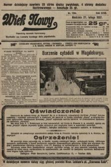 Wiek Nowy : popularny dziennik ilustrowany. 1927, nr7704