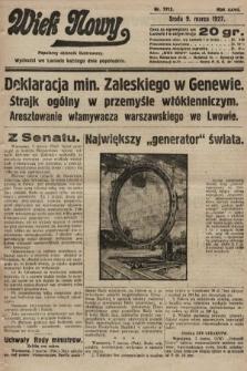 Wiek Nowy : popularny dziennik ilustrowany. 1927, nr7712