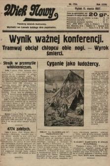 Wiek Nowy : popularny dziennik ilustrowany. 1927, nr7714