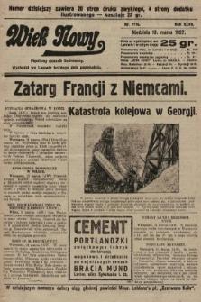 Wiek Nowy : popularny dziennik ilustrowany. 1927, nr7716