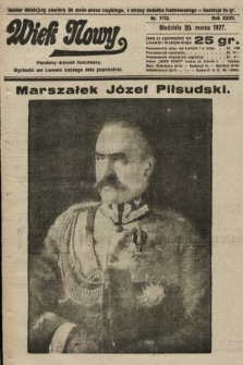 Wiek Nowy : popularny dziennik ilustrowany. 1927, nr7722