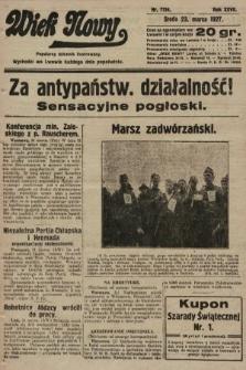 Wiek Nowy : popularny dziennik ilustrowany. 1927, nr7724