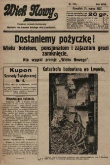 Wiek Nowy : popularny dziennik ilustrowany. 1927, nr7731