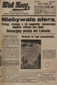 Wiek Nowy : popularny dziennik ilustrowany. 1927, nr7732