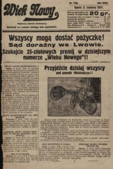Wiek Nowy : popularny dziennik ilustrowany. 1927, nr7733