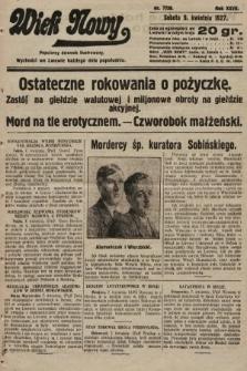 Wiek Nowy : popularny dziennik ilustrowany. 1927, nr7739