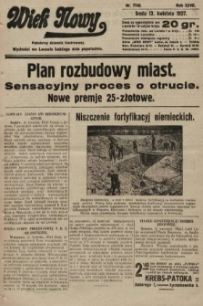 Wiek Nowy : popularny dziennik ilustrowany. 1927, nr7742