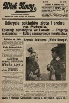 Wiek Nowy : popularny dziennik ilustrowany. 1927, nr7743