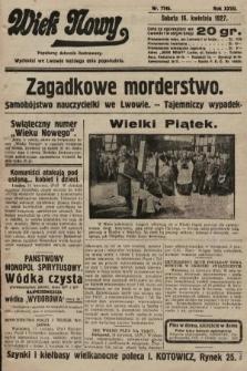 Wiek Nowy : popularny dziennik ilustrowany. 1927, nr7745