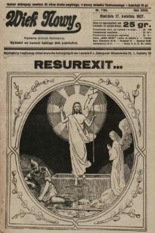 Wiek Nowy : popularny dziennik ilustrowany. 1927, nr7746