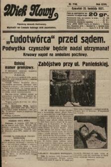 Wiek Nowy : popularny dziennik ilustrowany. 1927, nr7748