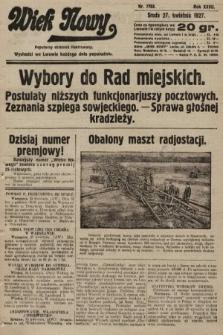 Wiek Nowy : popularny dziennik ilustrowany. 1927, nr7753
