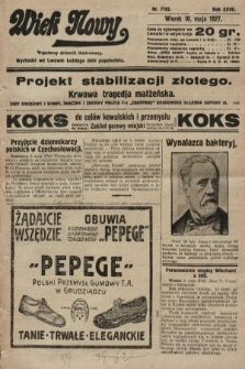 Wiek Nowy : popularny dziennik ilustrowany. 1927, nr7763