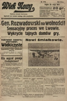 Wiek Nowy : popularny dziennik ilustrowany. 1927, nr7772