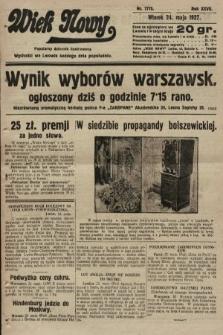 Wiek Nowy : popularny dziennik ilustrowany. 1927, nr7775