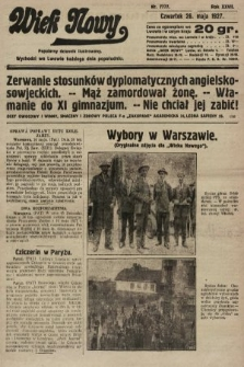 Wiek Nowy : popularny dziennik ilustrowany. 1927, nr7777