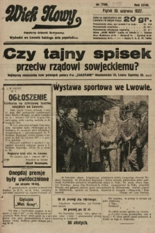 Wiek Nowy : popularny dziennik ilustrowany. 1927, nr7788