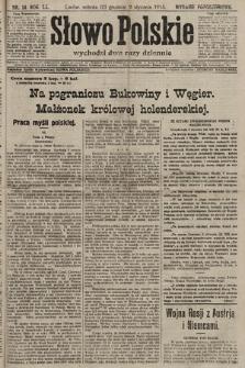 Słowo Polskie (wydanie popołudniowe). 1915, nr14