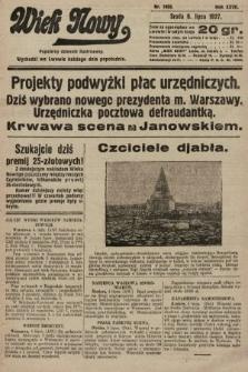 Wiek Nowy : popularny dziennik ilustrowany. 1927, nr7808