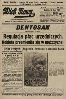 Wiek Nowy : popularny dziennik ilustrowany. 1927, nr7812