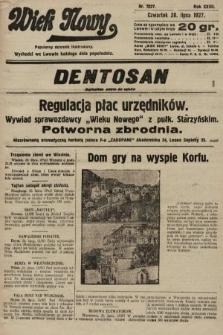 Wiek Nowy : popularny dziennik ilustrowany. 1927, nr7827