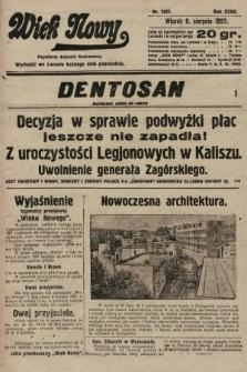 Wiek Nowy : popularny dziennik ilustrowany. 1927, nr7837