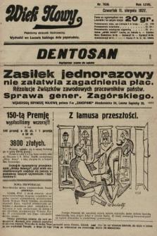 Wiek Nowy : popularny dziennik ilustrowany. 1927, nr7839