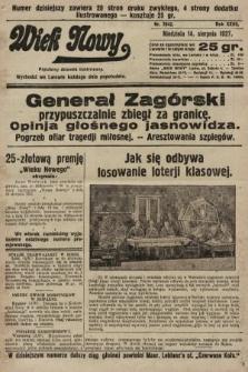 Wiek Nowy : popularny dziennik ilustrowany. 1927, nr7842
