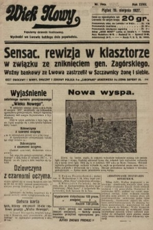 Wiek Nowy : popularny dziennik ilustrowany. 1927, nr7845