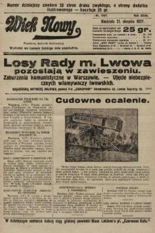 Wiek Nowy : popularny dziennik ilustrowany. 1927, nr7847