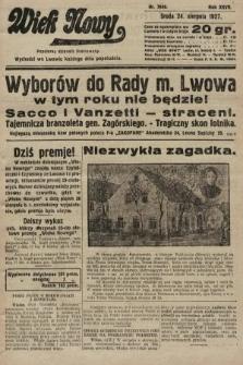 Wiek Nowy : popularny dziennik ilustrowany. 1927, nr7849