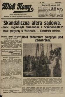Wiek Nowy : popularny dziennik ilustrowany. 1927, nr7850