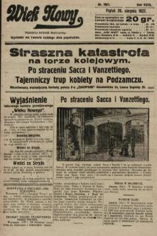 Wiek Nowy : popularny dziennik ilustrowany. 1927, nr7851
