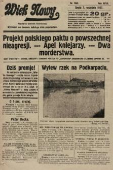 Wiek Nowy : popularny dziennik ilustrowany. 1927, nr7861