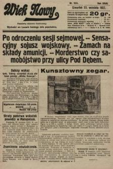 Wiek Nowy : popularny dziennik ilustrowany. 1927, nr7874