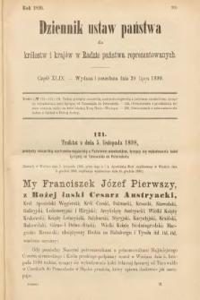 Dziennik Ustaw Państwa dla Królestw i Krajów w Radzie Państwa Reprezentowanych. 1899, cz.49