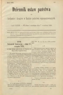 Dziennik Ustaw Państwa dla Królestw i Krajów w Radzie Państwa Reprezentowanych. 1899, cz.72