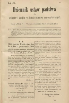Dziennik Ustaw Państwa dla Królestw i Krajów w Radzie Państwa Reprezentowanych. 1899, cz.84
