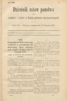 Dziennik Ustaw Państwa dla Królestw i Krajów w Radzie Państwa Reprezentowanych. 1899, cz.91