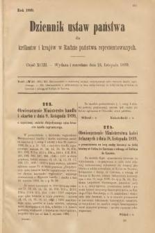 Dziennik Ustaw Państwa dla Królestw i Krajów w Radzie Państwa Reprezentowanych. 1899, cz.93