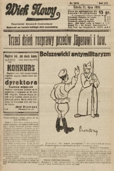 Wiek Nowy : popularny dziennik ilustrowany. 1925, nr7212
