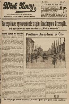 Wiek Nowy : popularny dziennik ilustrowany. 1925, nr7216