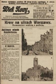 Wiek Nowy : popularny dziennik ilustrowany. 1925, nr7219