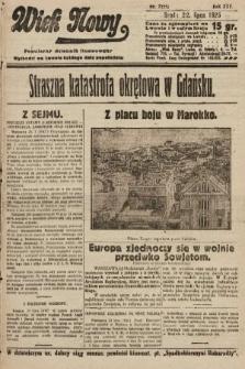 Wiek Nowy : popularny dziennik ilustrowany. 1925, nr7221